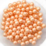 04-R-02010-29303 Light Peach Pastel Pearl round 4 mm. 100 Pc.-0