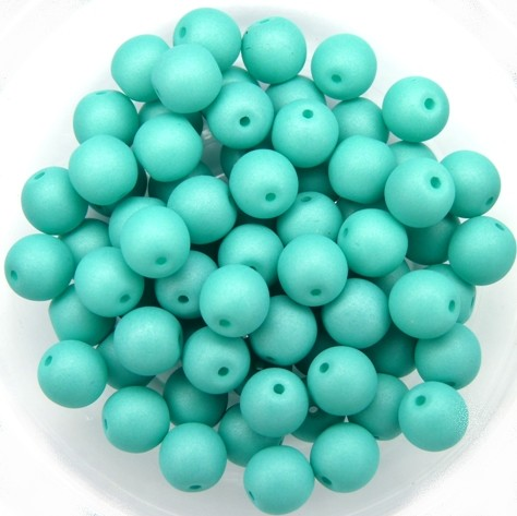 06-R-02010-29569 Saturated Mint Round 6 mm. 50 Pc.-0