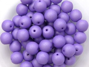 06-R-02010-29570 Saturated Lavender Round 6 mm. 50 Pc.-0
