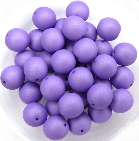 08-R-02010-29570 Saturated Lavender Round 8 mm. 25 Pc.-0
