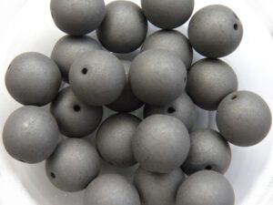 10-R-02010-29566 Saturated Titanium Round 10 mm. 15 Pc.-0