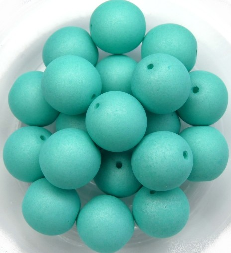 10-R-02010-29569 Saturated Mint Round 10 mm. 15 Pc.-0