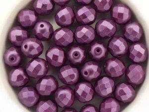 0080590 Pastel Pearl Bordeaux Facet 8 mm. 15 Pc.-0