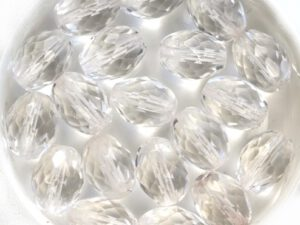 0150113 Crystal Oval facet. 12 x 9 mm. 9 Pc-0