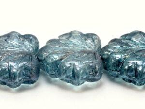 MPL-00030-14464 Crystal Blue Luster Maple Leaf 15 Pc.-0
