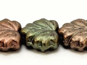 MPL-00030-01640 Matte Metallic Bronze Iris Maple Leaf 15 Pc.-0