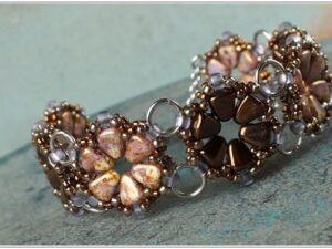 Daisy Bracelet, with Nib-Bit Beads.-0