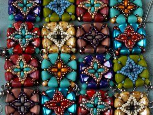 Timbuktu Earrings, with Nib-Bit Beads.-0