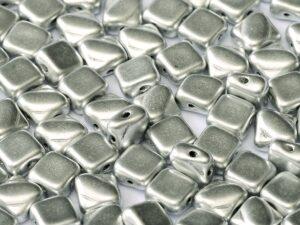 SL-00030-01700 Silky Bead, Crystal Silky Silver 30 Pc.-0