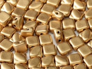 SL-00030-01710 Silky Bead, Crystal Silky Gold 30 Pc.-0