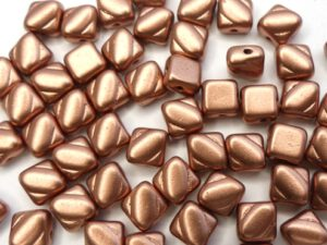 SL-00030-01780 Silky Bead, Crystal Silky Bronze Copper 30 Pc.-0