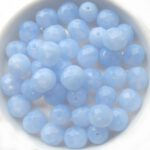 0090135 Light Opal Sapphire, facet 8 mm. 12 Pc.-0