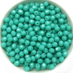 0100483 Opaque Green Turquoise, Facet 4 mm. 50 Pc.-0