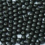 06-R-02010-29400 Alabaster Metallic Black Round 6 mm. 50 Pc.-0