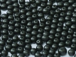 10-R-02010-29400 Alabaster Metallic Black Round 10 mm. 15 Pc.-0