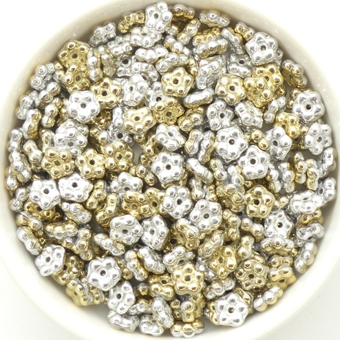 FN-00030-98550 California Silver Forget-Me-Not Beads 50 Pc.-0