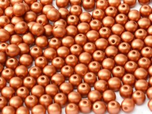 10-R-02010-29410 Alabaster Metallic Mat Copper 10 mm. 15 Pc.-0