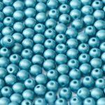 04-R-02010-29436 Alabaster Metallic Mat Arctic Blue Round 4 mm. 100 Pc.-0