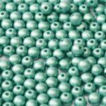 04-R-02010-29455 Alabaster Metallic Mat Teal Round 4 mm. 100 Pc.-0