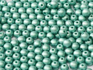 08-R-02010-29455 Alabaster Metallic Mat Teal Round 8 mm. 25 Pc.-0
