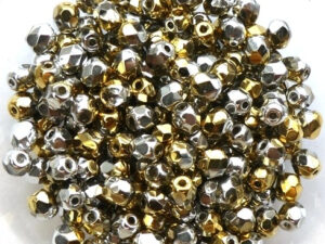 0020277 California Silver facet 4 mm. 50 Pc.-0