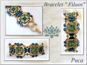 Filaos Bracelet, Gratis Patroon bij Tinos® par Puca® -0