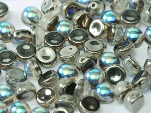 2HC-6-00030-98537 2-Hole Cabochon Crystal Graphite Rainbow 25 Pc.-0