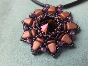 Solaris Pendant, Free Pattern with Nib-Bit™ Beads.-0