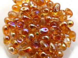 CD-00030-98535 Crystal Orange Rainbow Czech Drops 50 Pc.-0