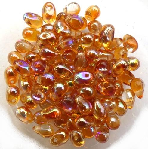 CD-00030-98535 Crystal Orange Rainbow Czech Drops 50 Pc.-0