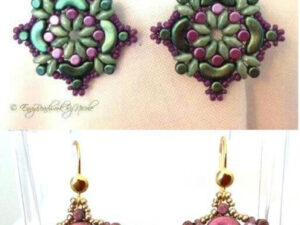 Jolene Earrings, by Nicole from EnvyBeadwork, free tutorial with Arcos and Minos-0