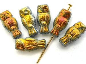 OWL-00030-28003 Owl Bead Crystal Full Marea 12 Pc.-0