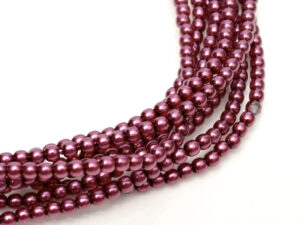 04-132-19001-70479 Shiny Dark Magenta Glass Pearl 120 Pc.-0