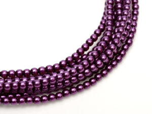 04-132-19001-70478 Shiny Purple Glass Pearl 120 Pc.-0