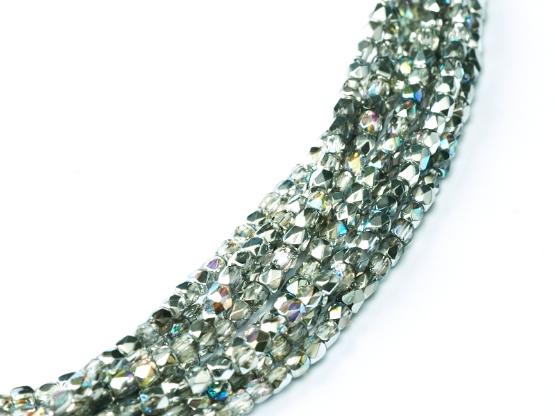 2FP-00030-98530 Fire Polished Crystal Silver Rainbow 2 mm.-0