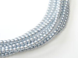 04-132-19001-70462 Shiny Powder Grey/Blue Glass Pearl 120 Pc.-0
