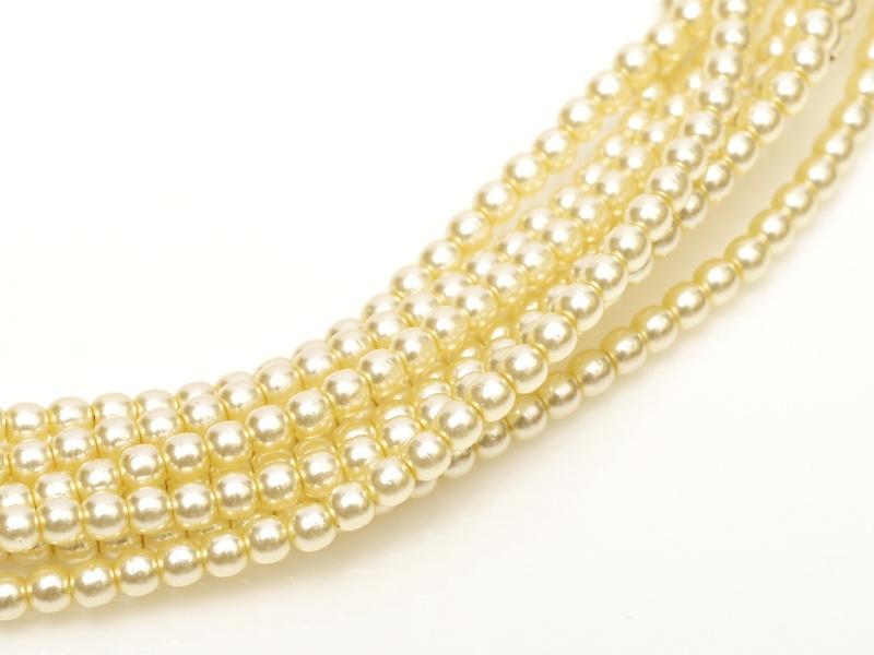 04-132-19001-70440 Shiny Cream Glass Pearl 120 Pc.-0