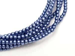 04-132-19001-10190 Shiny Persian Blue Glass Pearl 120 Pc.-0