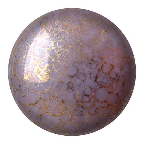 CP-18 Opaque Amethyst Bronze Cabochon Par Puca® 18 mm. Round-0