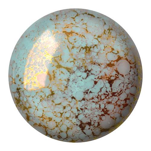 CP-25 Opaque Aqua Bronze Cabochon Par Puca® 25 mm. Round-0