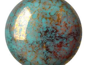 CP-18 Opaque Blue Turquoise Bronze Cabochon Par Puca® 18 mm. Round-0