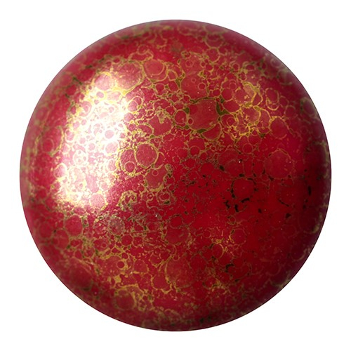 CP-18 Opaque Coral Red Bronze Cabochon Par Puca® 18 mm. Round-0