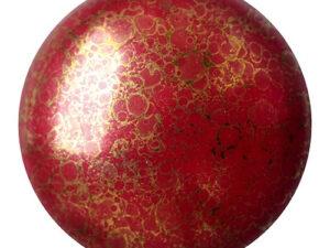CP-25 Opaque Coral Red Bronze Cabochon Par Puca® 25 mm. Round-0
