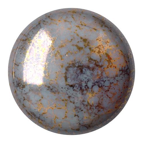 CP-25 Opaque Grey Bronze Cabochon Par Puca® 25 mm. Round-0