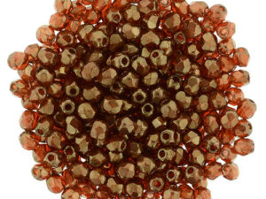 0030289 Dark Bronze Hyacinth facet 2.5 mm. 100 Pc.-0