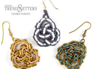 Celtic Knot Earings, Free Pattern with CzechMates® Bars-0
