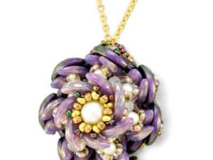 Datura Pendant, Free Pattern with CzechMates Crescent™ Beads.-0