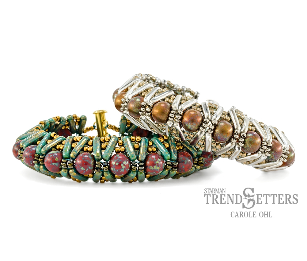 Denali Cuff, Free Pattern with CzechMates™ Beam Beads.-0