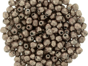 FP-2,5-77057CR Fire Polished ColorTrends: Saturated Metallic Pale Dogwood 2,5 mm.-0