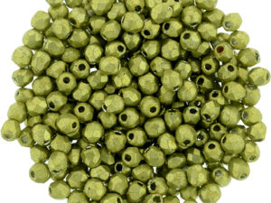 FP-2,5-77058CR Fire Polished ColorTrends: Saturated Metallic Primrose Yellow 2,5 mm.-0